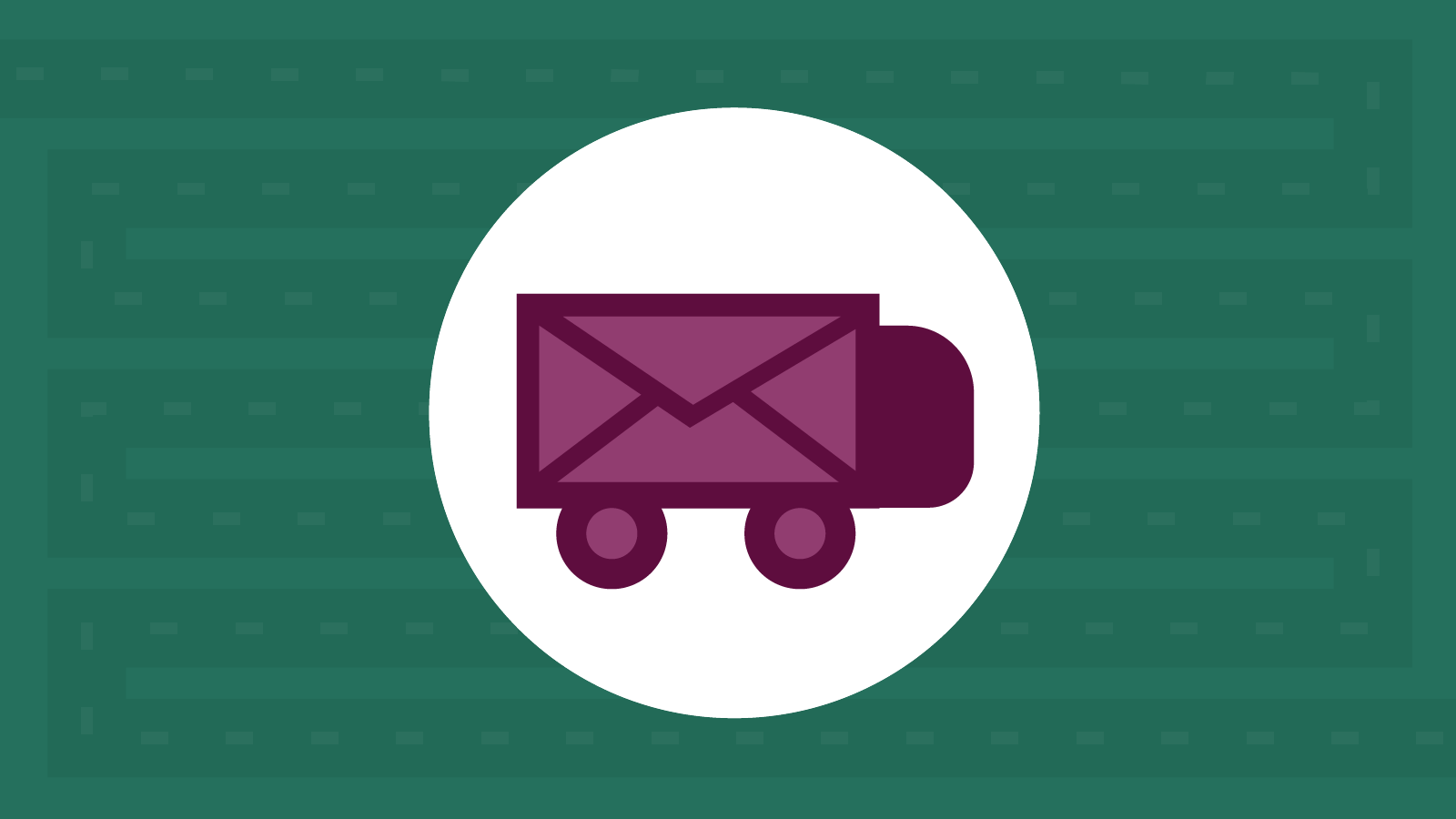 purple email envelope with wheels on the road to BIMI