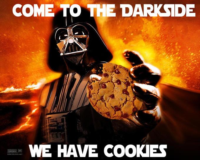 darth vader meme with cookies