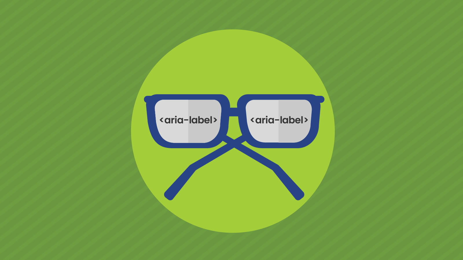 Spectacles showing aria-label in the frames